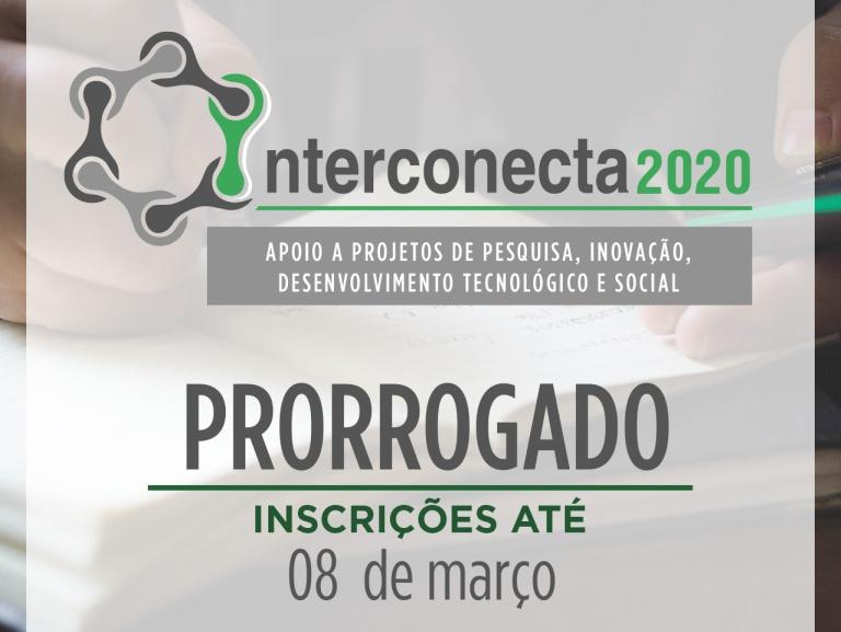 Prorrogação vale para a Chamada Interconecta e também para o Pibic-EaD e o Pidetec-EaD