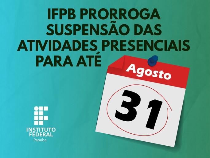 Recomendação é do Colégio de Dirigentes do IFPB
