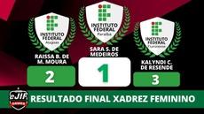 IFPB conquista 1º lugar na modalidade xadrez arena feminino com Sara Soares
