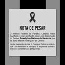 Falecimento do Senhor Rawellyton Nahane de Medeiros, pai da aluna Mabelly Rodrigues de Oliveira.