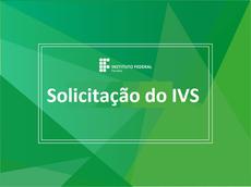 SOLICITAÇÃO DE ANÁLISE SOCIOECONÔMICA – Índice de Vulnerabilidade Social (IVS)