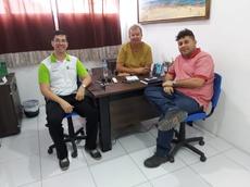 Professor José Anderson, Diretor Fred Campos e Representante da Empresa Tubo Tec, Helder Gomes