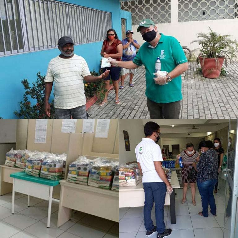 A entrega foi feita a partir do Projeto IFPB Solidário.