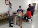 Entrega dos kits de alimentos do PNAE