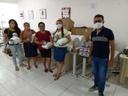 recebimento dos kits de máscara no campus do IFPB