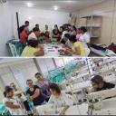 Aula do curso de moda e vestuário