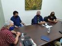 Reitor recebe visita do prefeito de Pedras de Fogo