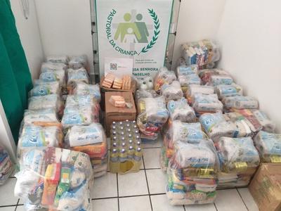 Ação distribuiu mais de 500 cestas básicas com famílias em situação de vulnerabilidade social afetadas pela pandemia