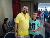 LUCAS RAFAEL CARDOSO FLORENTINO e Professor Amílcar Pessoa, participam do Torneio de Xadrez de Âmbito Nacional