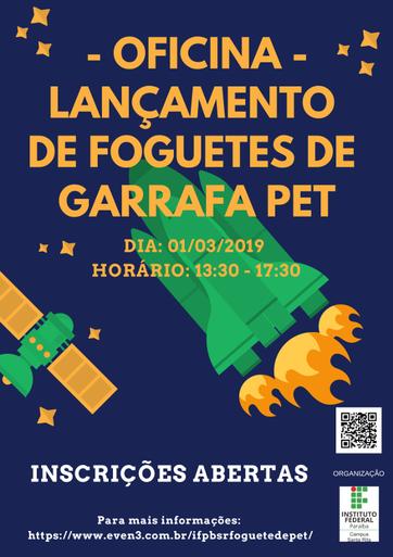A atividade tem como objetivo compartilhar a experiência vivenciada por egressos do IFPB, que participaram da Mostra Brasileira de Foguetes.