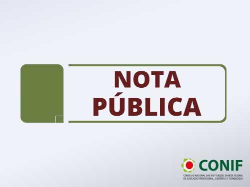 Conselho Nacional das Instituições da Rede Federal de Educação Profissional, Científica e Tecnológica publica nota relacionada ao COVID-19