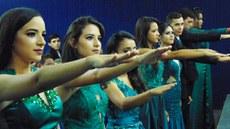 Estudantes do ensino médio participaram de solenidade na unidade Sede