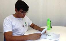 Samuel Nunes, estudante do 3º ano do curso técnico integrado de Meio Ambiente