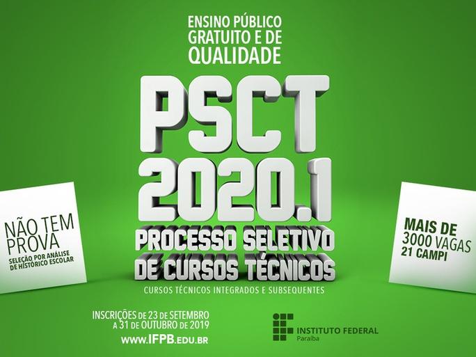 Edital do PSCT foi lançado nesta quinta-feira (19). Inscrições começam em 23/09